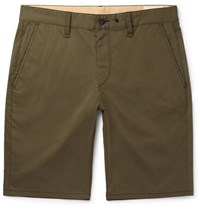 Rag And Bone Fit 1 Garment Dyed Cotton Blend Chino Shorts Green