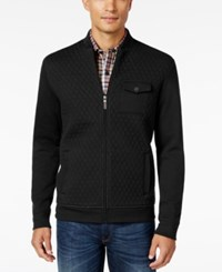 Tasso Elba Men's Classic Fit Quilted Full Zip Jacket Only At Macy's Deep Black