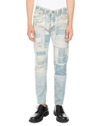 Dries Van Noten Pender Denim Print Skinny Jeans Light Blue