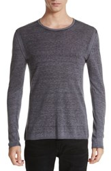 John Varvatos Men's Collection Silk And Cashmere Crewneck Sweater Dry Lavender