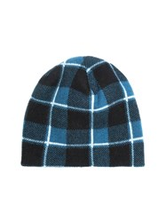 Baja East Plaid Cashmere Beanie Hat