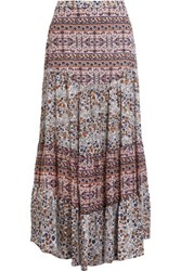 See By Chloe Floral Print Cotton Voile Maxi Skirt Multi