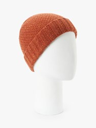 John Lewis And Partners Donegal Wool Hat Orange