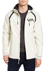 Rvca Men's Grappler Hooded Jacket Silver Bleach