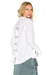 Mlm Label Cairo Eyelet Button Up White
