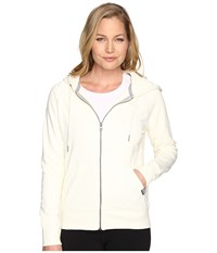 New Balance Classic Full Zip Hoodie Angora Women's Sweatshirt Bone