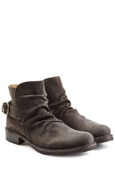 Fiorentini Baker And Suede Buckle Back Ankle Boots Grey