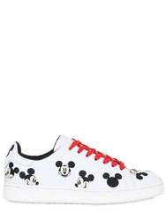 Moa Master Of Arts 10Mm Mickey Embroidered Leather Sneakers
