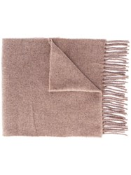 Woolrich Fringed Scarf Brown