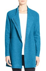 Eileen Fisher Women's Asymmetrical Boiled Merino Wool Jacket Nile