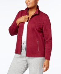 Karen Scott Plus Size Quilted Jacket Created For Macy's Bordeux