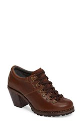 Woolrich Women's Cascade Range Oxford Pump Ginger Leather
