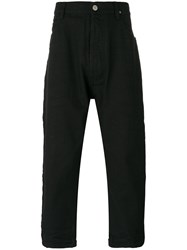 Vivienne Westwood Anglomania Tapered Crop Jeans Men Cotton 30 Black