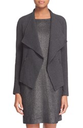 Majestic Drape Front French Terry Jacket Anthracite Chine