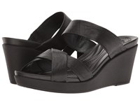 Crocs Leigh Ann Wedge Leather Black Black Women's Wedge Shoes