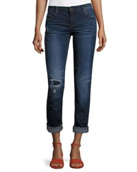 Kut From The Kloth Catherine Low Rise Skinny Boyfriend Jeans Blue