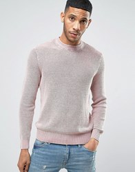 New Look Ribbed Jumper In Acid Wash Pink Light Pink