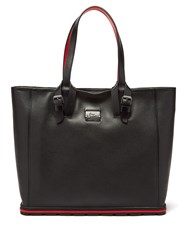 Christian Louboutin Kabiker Leather Tote Bag Black Silver