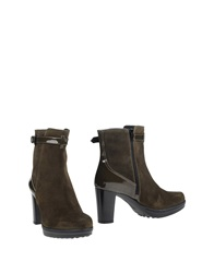 Pons Quintana Ankle Boots Military Green