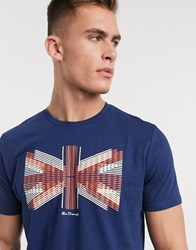 Ben Sherman Union Lines T Shirt Blue
