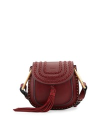 Chloe Hudson Mini Calf Leather Saddle Bag Siena Red