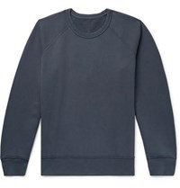 Our Legacy 50'S Great Reversible Fleece Back Cotton Jersey Sweatshirt Navy
