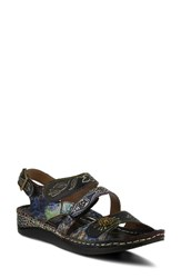 L'artiste Sumacah Sandal Black Leather