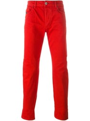 Diesel Black Gold Slim Fit Trousers Red