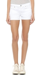 7 For All Mankind Roll Up Shorts Clean White