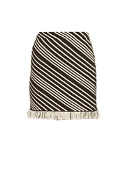 Sonia Rykiel Diagonal Stripe Mini Skirt