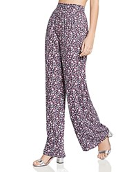 Bcbgeneration Floral Print Palazzo Pants Deep Red Combo