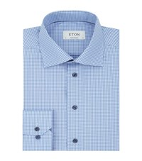Eton Contrast Collar Contemporary Fit Shirt Male Blue