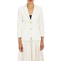 The Row Women's Two Button Schoolboy Jacket Ivory