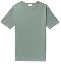 Christophe Lemaire Ribbed Organic Cotton Blend T Shirt Green