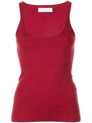 Gabriela Hearst Knitted Tank Top Red