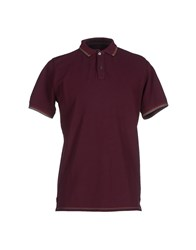 Alpha Studio Topwear Polo Shirts Men Deep Purple
