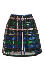 Elie Saab Beaded A Line Mini Skirt Black