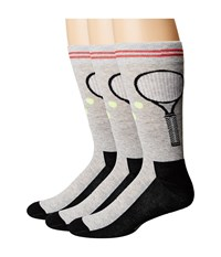 Hue Tennis Socks With Half Cushion 3 Pack Light Charcoal Heather Pack Men's Crew Cut Socks Shoes Multi