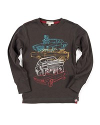 Appaman Car Stack Graphic Top Size 2 10 Black