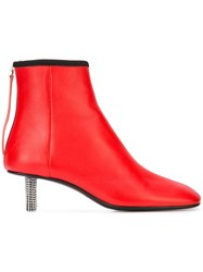 Calvin Klein 205W39nyc Embellished Heel Boot Red