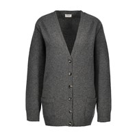 Celine Cashmere Cardigan Medium Grey