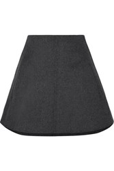 Carven Wool And Cashmere Blend Mini Skirt Gray