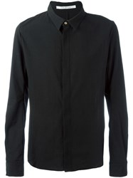 Individual Sentiments Concealed Fastening Shirt Black