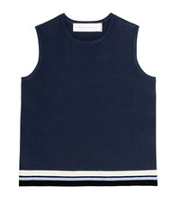 Victoria Beckham Stretch Knit Top Blue