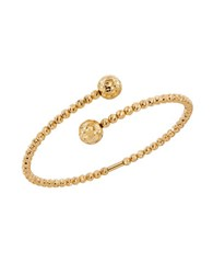 Lord And Taylor 14K Yellow Gold Beaded Coil Bracelet