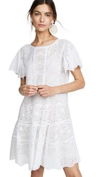 Rebecca Taylor Sleeveless Livy Eyelet Dress Milk