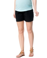 Motherhood Maternity Secret Fit Belly Cargo Shorts Black