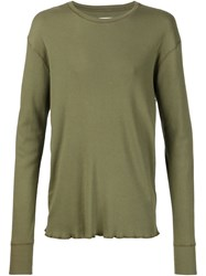 321 Longsleeved Ribbed T Shirt Green