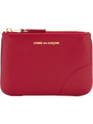 Comme Des Gara Ons Wallet Zipped Purse Red