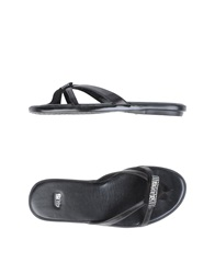 Cesare Paciotti 4Us Thong Sandals Black